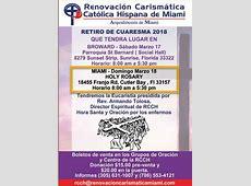 Eventos Renovación Carismática Católica de Miami