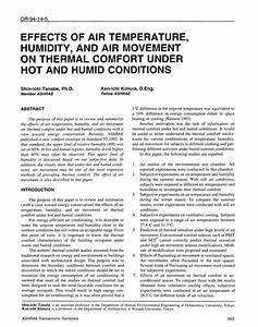Pdf  Effects Of Air Temperature  Humidity  And Air