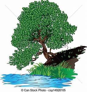 Baum Am Wasser : vector clipart of tree near the water tree with dense ~ A.2002-acura-tl-radio.info Haus und Dekorationen