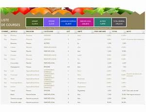 Listes De Courses : liste de courses ~ Nature-et-papiers.com Idées de Décoration