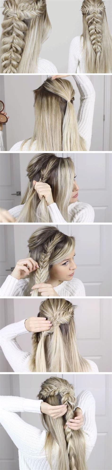 diy wedding hairstyles for medium hair fishtail into pull through braid diy wedding hairstyles for medium hair easy 99haircuts