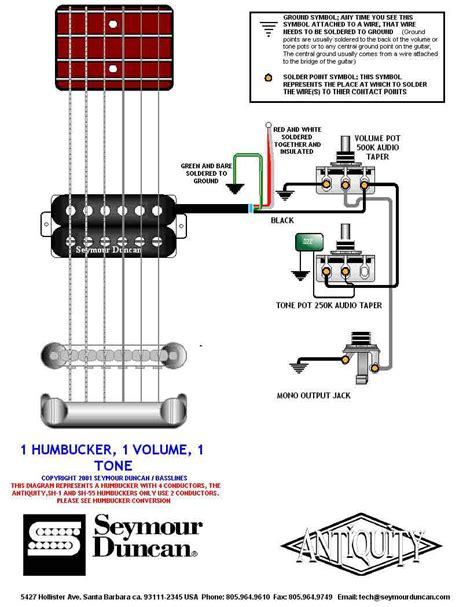 seymour duncan wiring diagram series parallel switch
