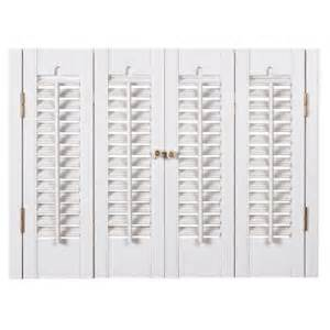 Interior Plantation Shutters Home Depot Homebasics Traditional Faux Wood White Interior Shutter Price Varies By Size Qsta3528 The