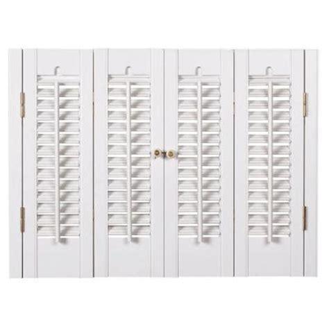 wooden shutters interior home depot homebasics traditional faux wood white interior shutter