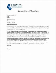 Sample Layoff Letter 11 Sample Layoff Notice Letters Find Word Letters