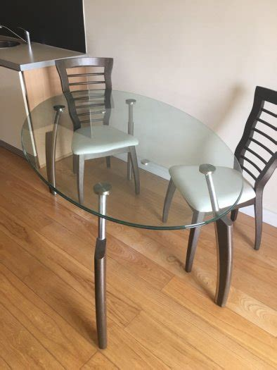 oval glass table and 6 chairs for sale in balgriffin
