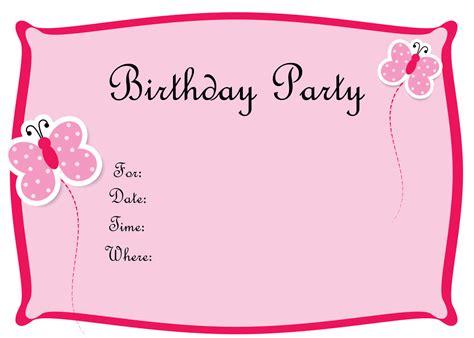 Free Birthday Invitations To Print FREE PRINTABLE