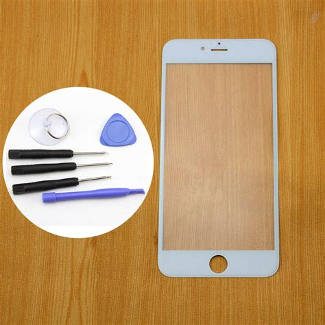 replace iphone 6 glass white outer glass lens screen panel replacement for iphone 2242