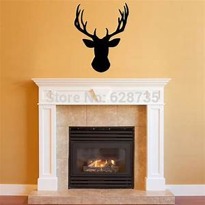 free shipping wall stickers deer head vinyl wall decal With awesome deer decals for walls