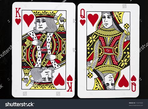 Queen of hearts by felixxkatt on deviantart. King Queen Hearts Against Black Background Stock Photo ...