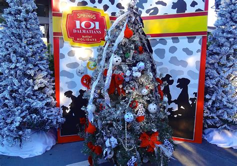 christmas tree trail  disney springs review  photo