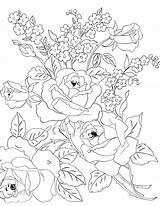 Embroidery Patterns Coloring Flowers Roses Tulips Floral Adult Colouring Bouquet Drawings Flores Rose Tuesday Template Jane Desenhos Coloriage Colorir Fleur sketch template