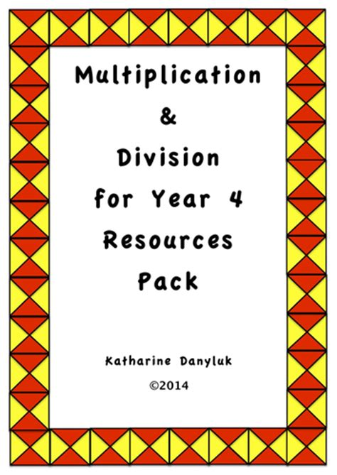 Multiplication Division And Tables Resource Pack For Year 4 By Mathsright  Teaching Resources Tes
