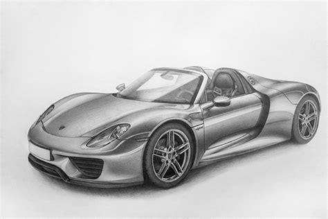 The porsche design p'3120 series of writing instruments are machined from single blocks of aluminum. Porsche 918 Spyder • Pencil on Behance