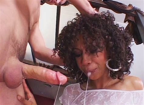 Curly Haired Ebony Slut Sucking James Deens Cock And Gets