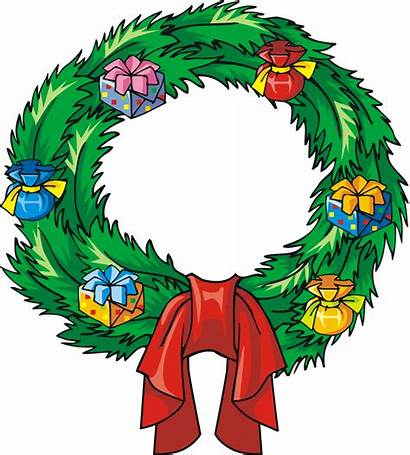 Christmas Clip Clipart Holiday Reef Wreath Cliparts