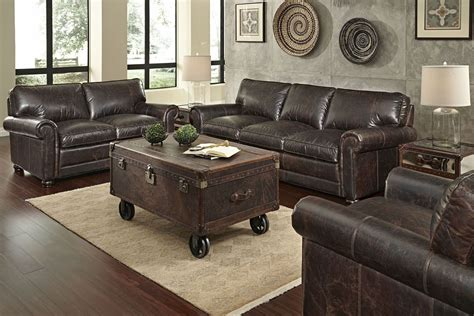 henderson quick ship  piece leather sofa loveseat