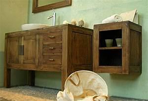 Waschtisch Aus Holz : waschtisch aus verwittertem holz ~ Michelbontemps.com Haus und Dekorationen