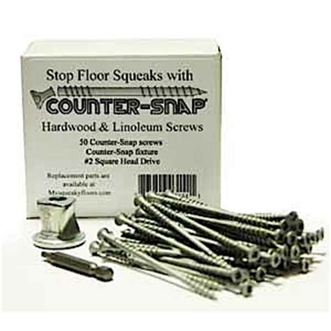 Squeaky Wood Floor Screws by Counter Snap Stop Squeaky Floors Using Our At The Joist