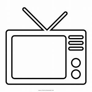 tv coloring page - television coloring page style dom