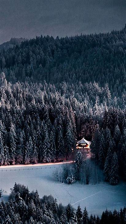 Iphone Snow Forest Winter Snowy Wallpapers Retreat