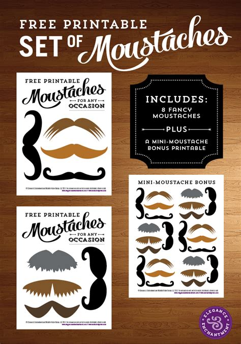 free printables archives elegance enchantment free printable moustaches
