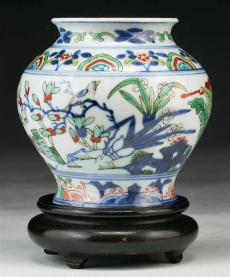 wucai chinese  colored ceramics images