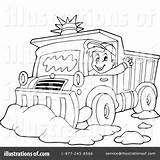 Plow Snow Coloring Clipart Truck Pages Illustration Printable Visekart Royalty Template Rf Getdrawings Sketch Getcolorings sketch template