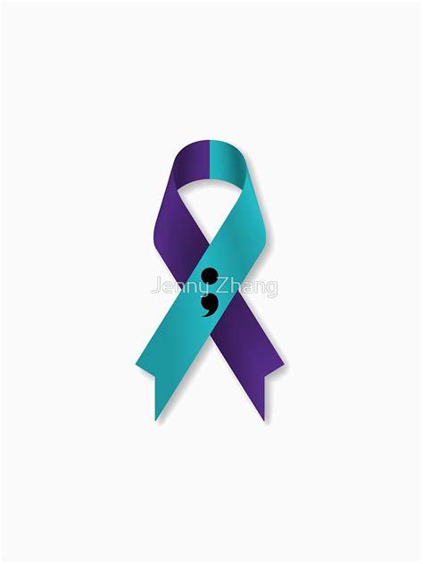 prevention color quot semicolon awareness prevention ribbon for white