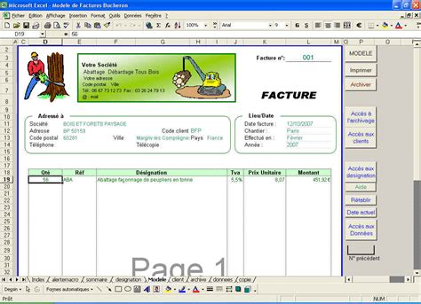 exemple facture xls document