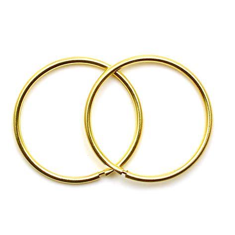 What Is A Sleeper Earring by 9ct Gold Hoop Earrings 14 Mm Plain Sleepers Light Weight