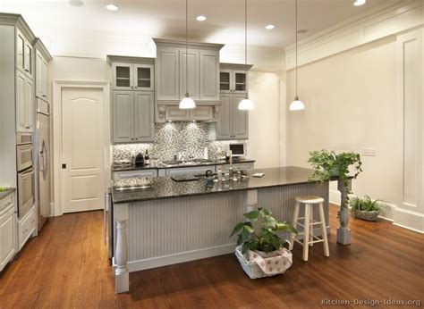 Grey Color Kitchen Cabinets by Pictures Of Kitchens Traditional Gray Kitchen Cabinets