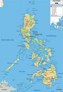 Physical Map of Philippines - Ezilon Maps  Philippine