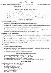 Resume customer service representative for Customer service representative resume