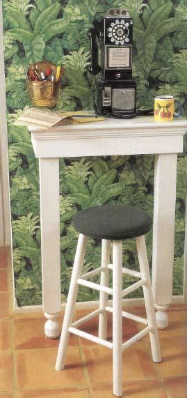 telephone table wood furniture plans