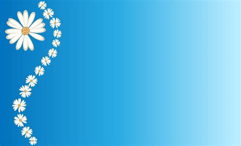 circle merah muda daisies on blue backgrounds presnetation ppt backgrounds