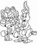 Easter Coloring Bunny Eggs Painting Boy Pages Happily Trapeze Printable Bunnies Artist Template Getcolorings Colorings Books sketch template