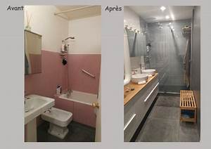 Salle De Bain Avant Après : r novation espace salle de bain et toilettes couleurs et ~ Mglfilm.com Idées de Décoration
