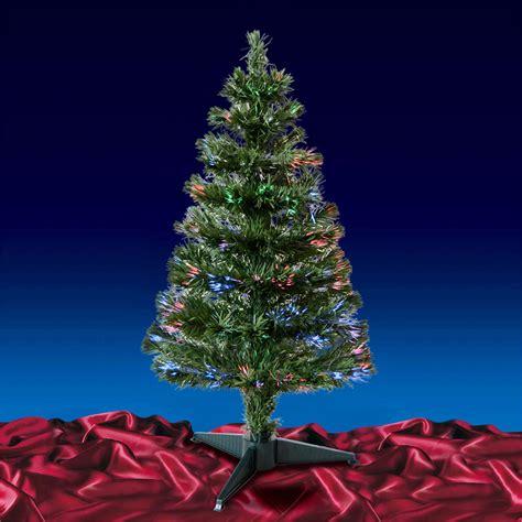 green black fibre optic artificial indoor christmas tree
