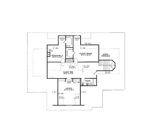 House Plan 62046 Southern Style with 4131 Sq Ft 5 Bed