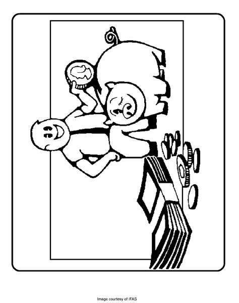 Money In The Piggy Bank  Free Coloring Pages For Kids