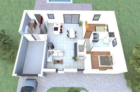 plan de maison 2 chambres visualisez le plan 3d d 39 un de nos modèles de maison 2