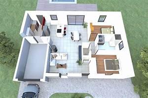 visualisez le plan 3d d39un de nos modeles de maison 2 With construction de maison 3d