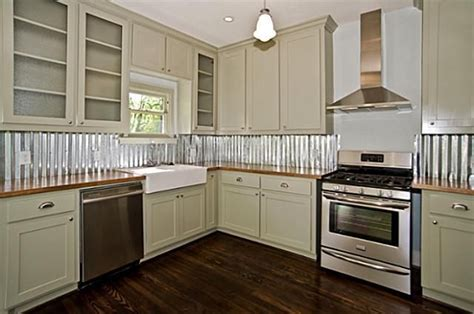 tin backsplashes for kitchens inexpensive corrugated aluminum used for kitchen 6248