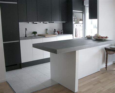 beton ciré cuisine plan travail taporo eau feu bar de cuisine en beton massif ductal