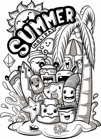 Doodle Doodles Monsters Monstruos Vexx Monster Gambar