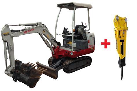 mini excavator  jack hammer carnegie equipment hire melbourne