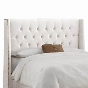 Dossier De Lit : skyline furniture dossier capitonn pour lit tr s grand en velours de ton blanc 403nb ~ Teatrodelosmanantiales.com Idées de Décoration
