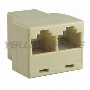 Rj45 Cat5 6 Lan Ethernet Network Cable Extender Splitter