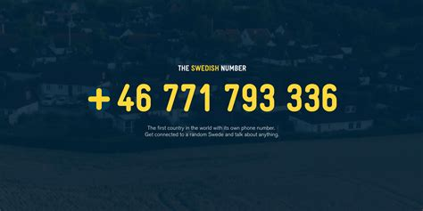 tdlr phone number the swedish number